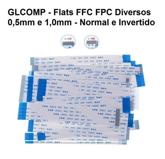 Cabo Flat Awm Fpc Normal E Invertido 0,5 E 1,0mm
