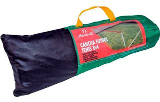Futbol Tenis Kit Red Parantes Postes Bolso Cuotas Sin Inter