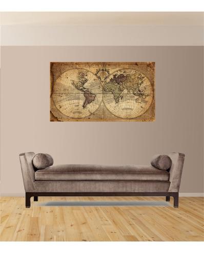 Mapamundi Vinilo Decorativo