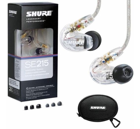 Fone In Ear Shure Se215 Original Monitor Retorno De Palco