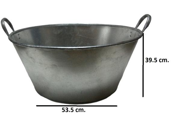 Paila Cazo Para Chicharrones Carnitas Galvanizada 75 Cm.