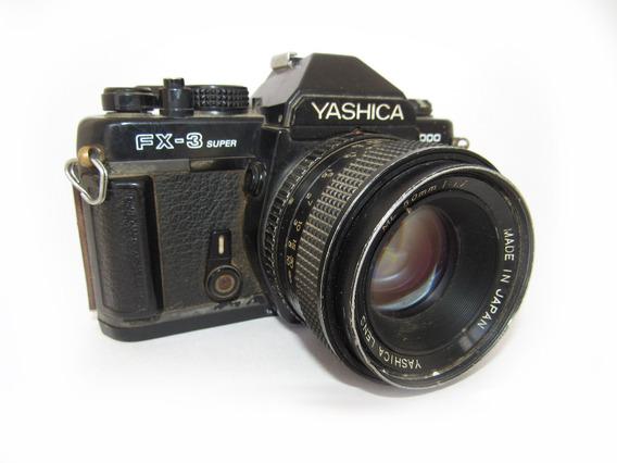 Antiga Câmera Fotográfica Yashica Fx-3 2000 Com Zoom