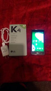 Celular Lgk4 Movistar Con Micro Sd De 8 Gb