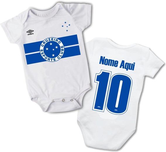 Roupas De Bebe Body Cruzeiro Personalizado Nome E Número
