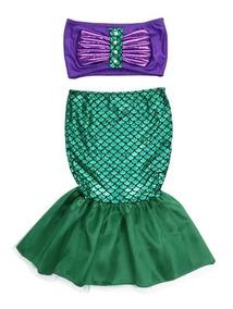 Vestido Fantasia Infantil - Sereia Princesa Ariel - Estoque