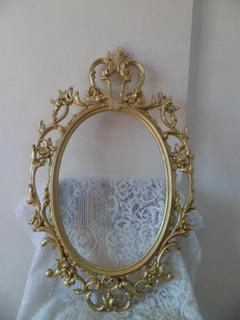 Marco De Espejo Estilo Victoriano En Aluminio