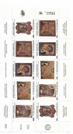 Venezuela 1994 Hoja Completa 10 Estampillas Navidad Mint