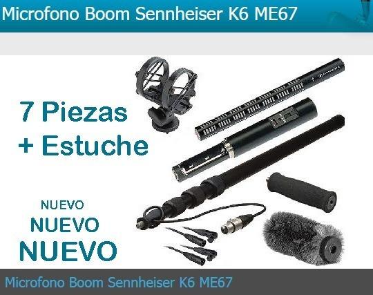 Micrófono Boom Sennheiser Con Caña Pole Boom (set Completo)