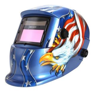 Careta Electrónica Para Soldar Modelo Aguila/calavera