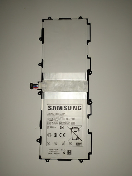 Bateria Samsung Galaxy Tab 2 10.1 Gt - P5100 Sp7636 Usado