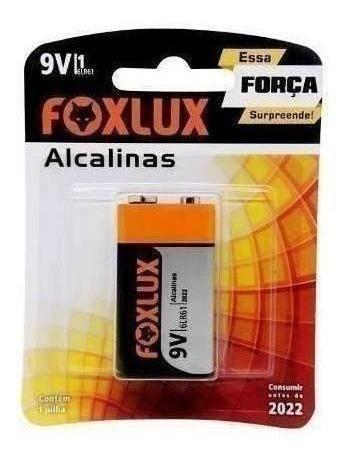 Bateria Alcalina 9v Foxlux Cartela C10 40219