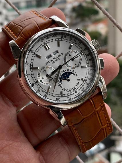 Relógio Patek Philippe Geneve Prata