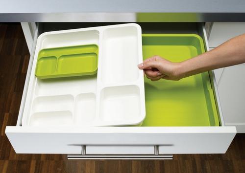 Contenedor Organizador Cocina Para Cubiertos Plástico Grueso