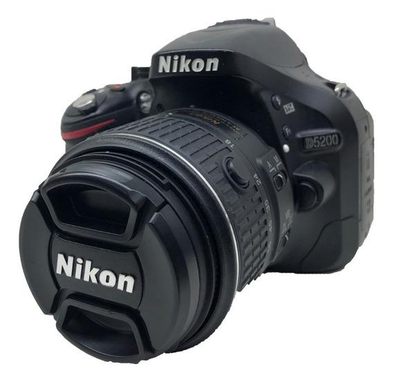 Nikon D5200 Kit 18-55mm 15600 Mil Usada Conservada
