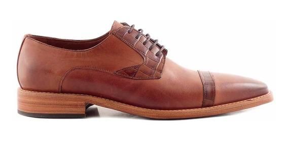 Zapato Hombre Cuero Briganti Vestir Casual Suela Hcac00890