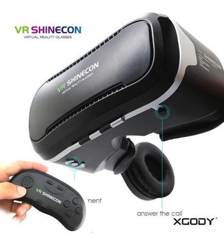 Vr Shinecon Gafas De Realidad Virtual 3d Con Auriculares Par