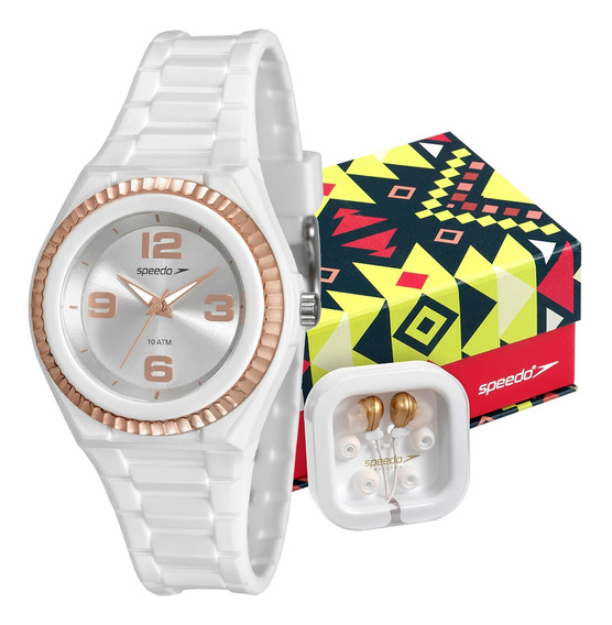 Relógio Speedo Feminino Com Fone De Ouvido 80609l0evnp2k1