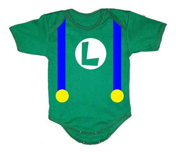 Disfraz Para Bebé - Pañalero De Luigi - Ropa Para Bebe Niño