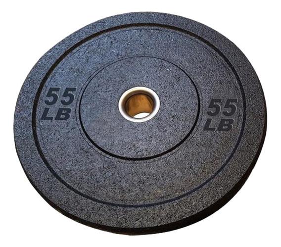 Disco Olimpico Bumper Crossfit Entrenamiento Uso Rudo 55 Lb