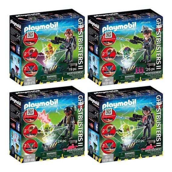 4 Playmobil Ghostbusters Venkman Spengler Stantz Zeddemore
