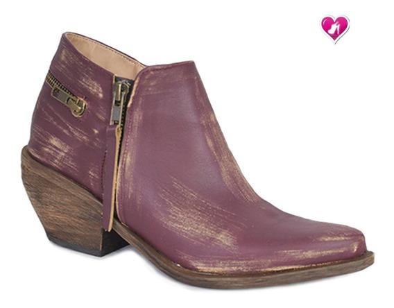Bota Texana Ultima Moda Cuero Modelo Rustica De Shoes Bayres