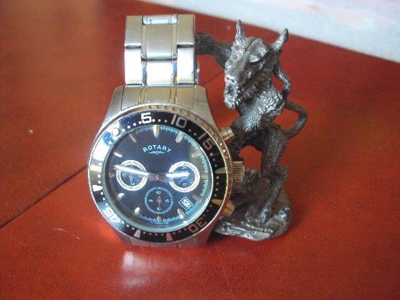 Relógio Rotary Cronografo Em Aço