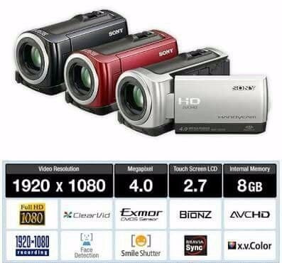Filmadora Sony Handycam Hdr-cx100 Digital Top De Linha