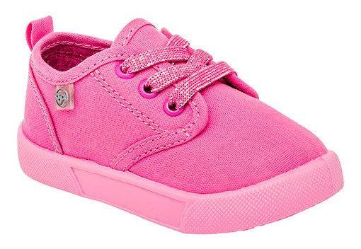 Zapato Casual Textura Original Niña Mezclilla 99997dtt Rosa