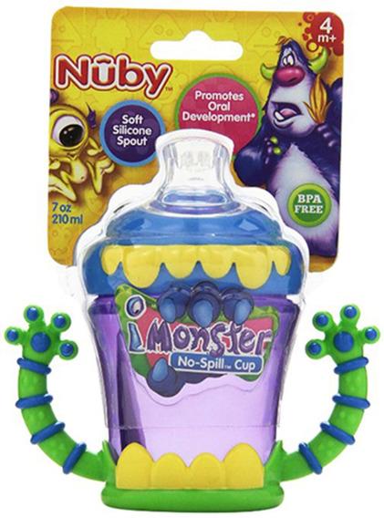 Vaso Bebe Nuby Anti Derrame Monster Manijas Resistente