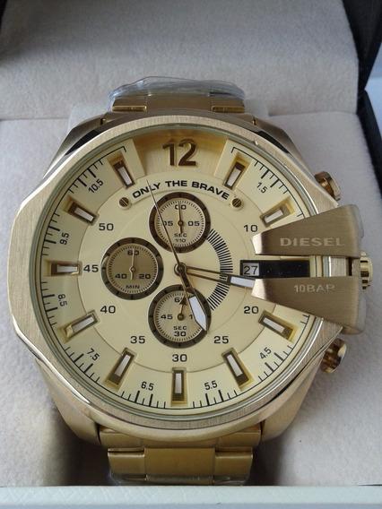 Relógio Diesel Dourado Dz 4360 Certificado -frete-12xs/juros
