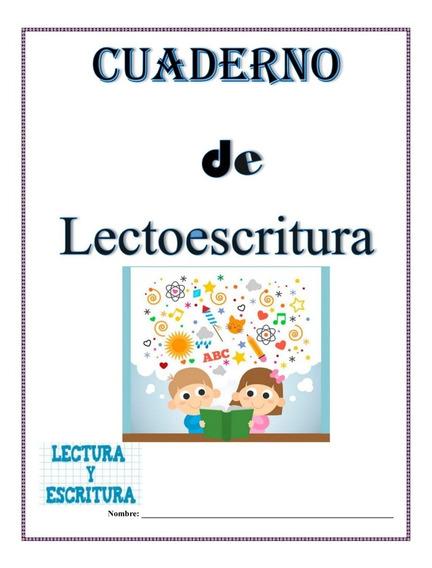 Cuaderno De Lectoescritura Para Aprender A Leer Y Escribir.