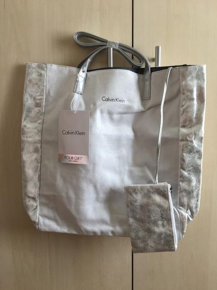 Bolsa Calvin Klein Com Carteira E Bolso Interno - Lindíssima