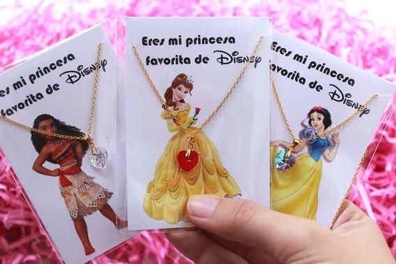Collar Princesas Disney, Corazon Cristal Swarovki Y Chapa