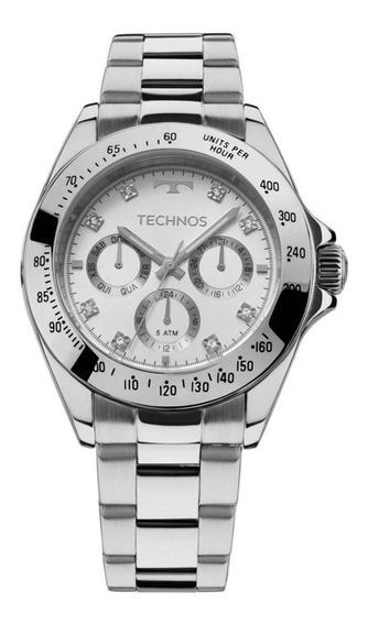 Relógio Technos Prateado Feminino Elegance Ladies
