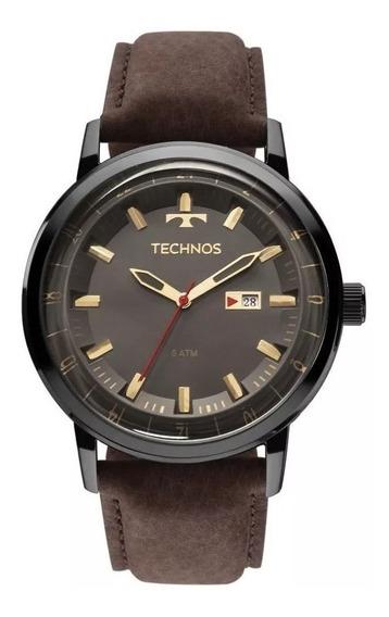Relógio Technos Analógico Classic Golf Marrom 2115laq/2c Top