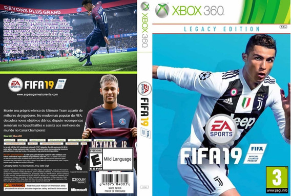 Fifa 19 Xbox 360 Destravado Midia Fisica
