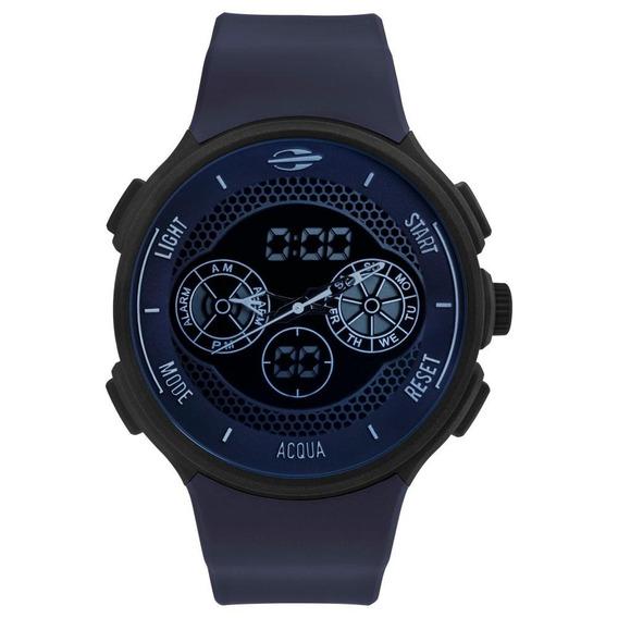 Relógio Masculino Mormaii Mo1608b/8c 48mm Silicone Azul