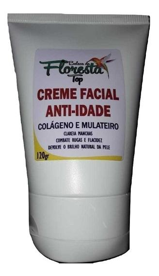 Kit 4 Creme Facial Anti-idade Colágeno E Mulateiro 120g