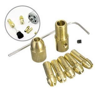 Mandril Adaptador Brocas Motor Collet Drill Set 8x 0.5-3mm