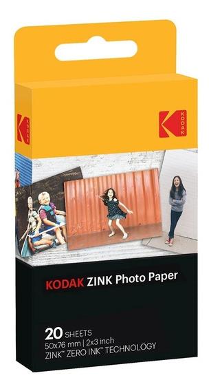 Filme Instantâneo Kodak Zink Photo Paper 20 Poses