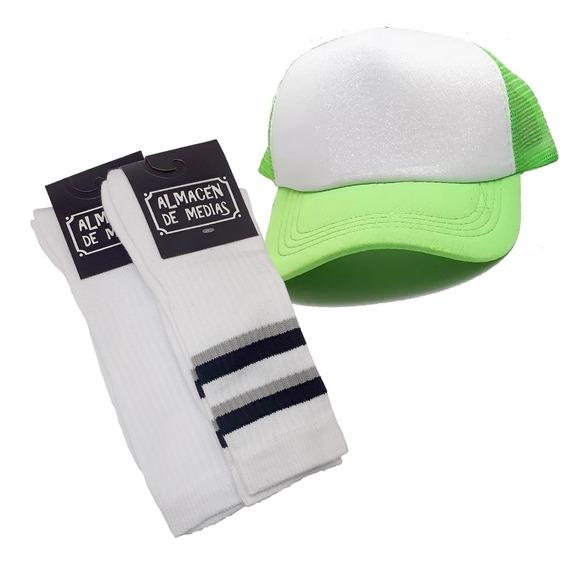 Gorra Trucker Lisa Limon + Pack X2 Sport Toalla Cuo Adm