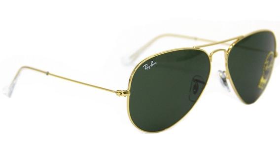 Óculos De Sol Feminino Ray Ban 3025 Aviador Tam. 58 Original