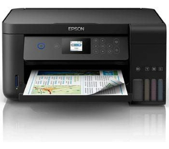 Impressora A Cor Multifuncional Epson Ecotank L4160 Com Wi-f