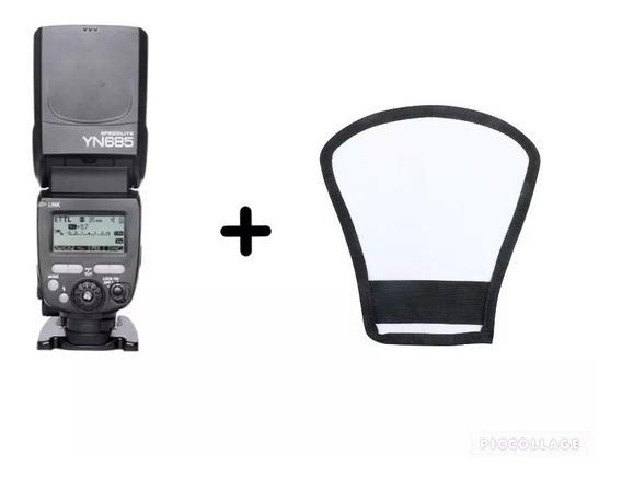 Flash Yongnuo Yn 685 C Para Canon + Difusor Rebatedor Leque