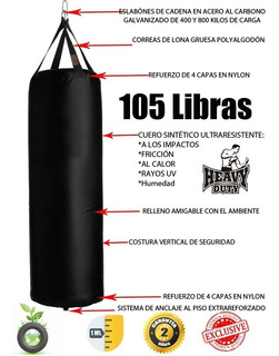 Saco Boxeo Mma Profesional 105 Libras (48 Kilos) Heavy Duty