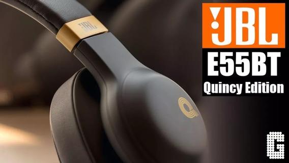 Headphone Original Jbl Quincy Edition E55 Bt Black By Harman