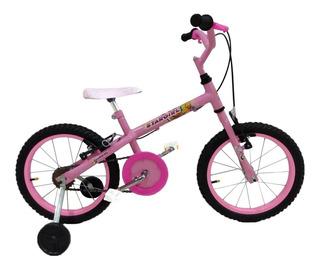 Bicicleta Samy Feminina Aro 16 Rosa