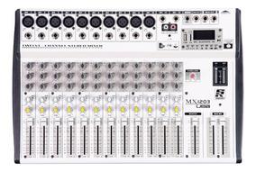 Mesa De Som 12 Canais Staner Usb/fm E Bluetooth Mx-1203