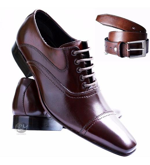 Sapato Cinto Social Masculino Couro Legitimo Juilli