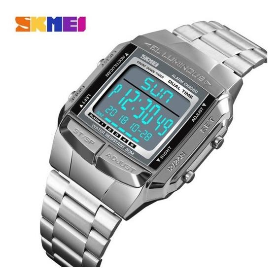 Relógio Masculino Skmei Esportivo Militar Digital Modelo 1381 Original 3 Atm À Prova D